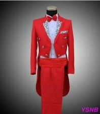New  Mens Formal Wedding Tuxedo Jackets Tail Blazers Party Suit Coat+pants Size