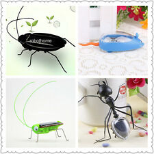 Amazing Solar Powered Robot Insects And Car For Children's Educational Toys Gift