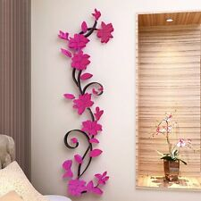 3D Flower Home&Room Decor DIY Wall Sticker Removable Acrylic Decal Mural HOT