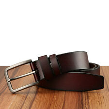 Men's Genuine Leather belt Cowhide Waistband Waist Strap Pin Alloy Buckle