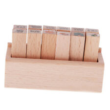 12pcs/set Little Wooden Box Lovely Diary Pattern Stamp Cute DIY Writing