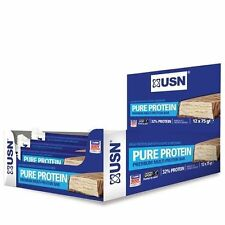 USN Pure Protein Bars 12 x 75G gram All Flavours - meal replacement diet whey