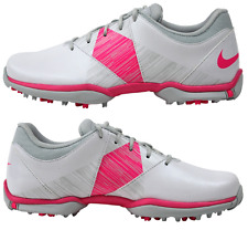 Nike Golf Womens White/Pink Nike Delight V 651997-102 Golf Shoes Cleats - NEW