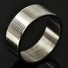 Fashion Jewelry Mens wedding Promise Love Band Ring stainless steel Size 8-11