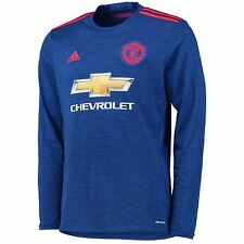 adidas Mens Gents Football Manchester United Away Long Sleeve Shirt 2016-17