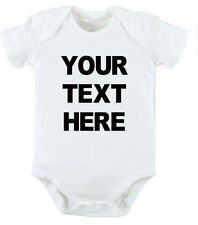 your text PERSONALISED newborn funny Baby Birthday gift Bodysuit grow Vest