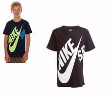 Nike T Shirt Kids Skateboarding Kids Tee Logo Boys Crew Neck Short Sleeve Top