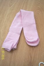 BABY GIRLS PLAIN KNIT TIGHTS 0 - 6 MONTHS & 6 - 12 MONTHS LIGHT PINK COTTON BNWT