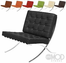 Exposition Chair Mid Century Modern Accent Chair Italian Leather Lounge Chair