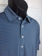 NEW RLX Golf Active Fit Performance Polo by Ralph Lauren Blue Stripe MSRP $89.50
