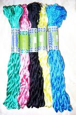 SILK EMBROIDERY THREAD 5 SKEINS 400 mts Multi Color Shades S11 Craft Size #14960