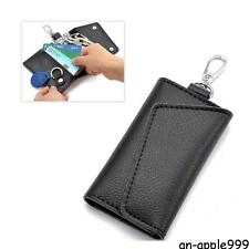 Mens Womens #A Leather Key Bag Keychain Credit Card holder Keyholder Case Purse