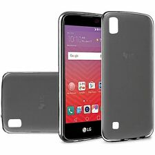 For LG X Power Case, Slim Skin TPU Cover [Stylus+Screen Protector +Car Charger]