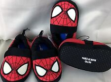 Marvel Spiderman red boy slip on  slippers youth S 5/6,   or M 7/8  toddler boy