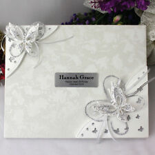 Birthday Guest Book - Any Age - 3D Butterfly | 30th,40th, 50th, 60th, 70th, 80th