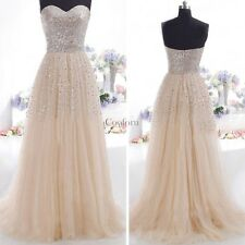 LADIES STRAPLESS LONG SEQUIN BRIDESMAID EVENING PARTY PROM GOWN MAXI DRESS S-XL