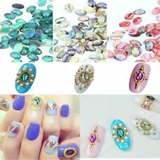 10 Pcs Nail Art Acrylic Colorful Shell Pattern DIY Decor Glitter Jewelry Beauty