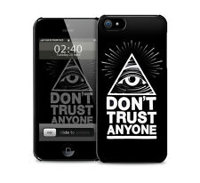 Sale - Black - Don't trust anyone Illuminati Eye glossy phone skin cover.
