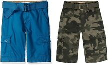 Levis Boys West Coast Cargo Shorts Belted Relaxed Cotton kids sizes 10 12 18 NEW