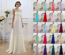 New Formal Lace Wedding Dress Evening Party Ball Gown Long Prom Bridesmaid Dress