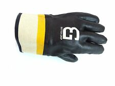 Better Grip Sandy finished PVC Coated-Supported Safety Cuff Black-BG105BLK/YEL