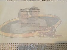 Star Trek 1979 The Motion Picture Set of 4 IRON-ON TRANSFERs Spock & Kirk Enter.