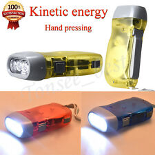 LED Flashlight Wind up Hand Pressing Crank Emergency Camping Flashlight Torch