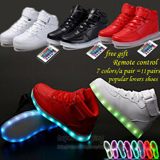 New Remote Control Unisex LED Light Up Shoes Casual High Top Luminous sneakers