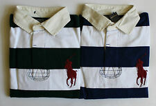 $98 NWT Mens Polo Ralph Lauren Big Pony Striped Long Sleeve Jersey Rugby Shirt