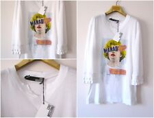 NWT AUTHENTIC LOVE MOSCHINO WOMEN'S WHITE MARILYN PRINTED TEE SHIRT Sz-S, M, L