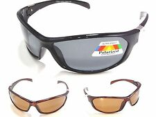 Men's Polarized Sunglasses Sports Wrap Blocks Glare Fishing Boating Glasses