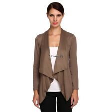 New Stylish Ladies Women Casual Long Sleeve Single Button Solid Cardigan EA7701