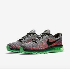 Nike Flyknit Max Mens Size Running Shoes White Black Ghost Green 620469 103