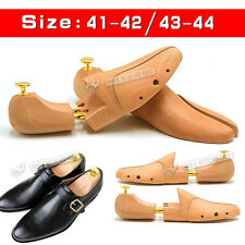 One Pair NEW Mens Quality Wood Double Tube Shoe Trees Wooden Shoe Tree Stretcher
