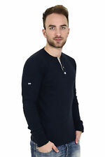Superdry Heritage LS Grandad M60005TOF5 DE1 navy - Men's - Shirt + new +