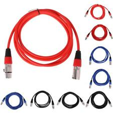 Male to Female XLR Mic Lead / Balanced Microphone / Mic Patch Cable Colorful