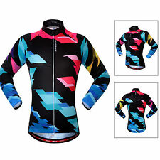 Men Cycling Bike Long Sleeve Clothing Tops Bicycle Sports Wear Jersey Breathable