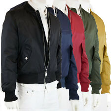 Bomber Jacket Quilted Black Blue Green Red Yellow Men New