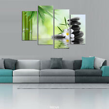 Modern Home Decor Canvas Painting HD Print Picture Art Bamboo and Flower 4PCS