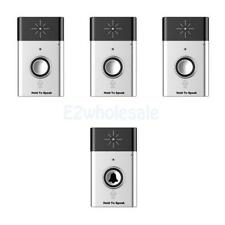 Wireless Doorbell Remote Control Door Chime Button Bell w/ Voice Intercom 300M