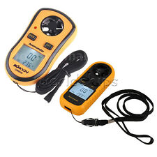 New Mini Digital LCD Anemometer Wind Speed GM816 Tester Temperature  Thermometer