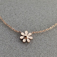 18K GP Rose Gold Titanium Stainless Steel Daisy Stud necklace Necklaces
