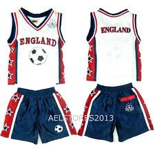 Football Summer Shorts Boys New Girls Top Vest Kit Set Size Age 0-12 Years Bnwt