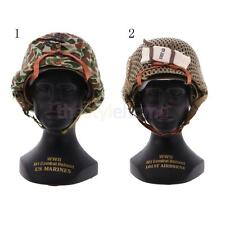 4.3'' Plastic Camoflauge Army Helmet Hat Military Soldier Costume Accessory