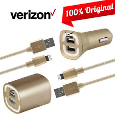 OEM Verizon Car Wall Home Fast Charger Data Cable for iPhone 7 7 Plus 6S 6 5S 5