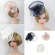 Church Derby Cocktail Wedding Prom Races Sinamay Fascinator Hat with Headband