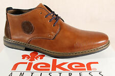 Rieker Men's Lace-up Shoes, Low shoes Sneakers trainers brown leather 13420 NEW