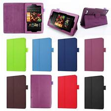 PU Leather Shell Fold Case Cover For 2016 Amazon Kindle Fire HD 7 Inch Tablet ZQ