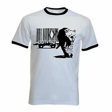 BANKSY BARCODE LEOPARD T-SHIRT - Choice Of 3 Colours - Sizes S to XXL