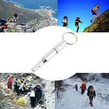 Aluminum Alloy Emergency Survival Whistle Outdoor Hiking Keychain Multicolor BS